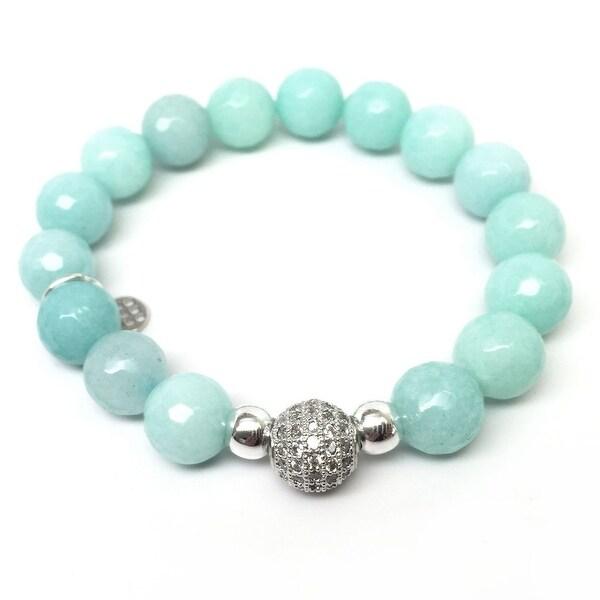 """Aqua Quartz Radiance 7"""" Bracelet"""