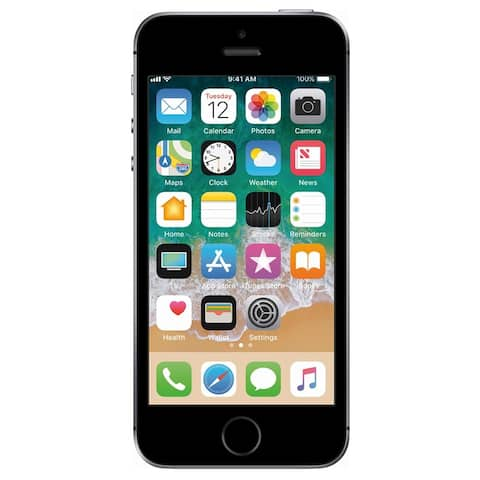 Apple iPhone SE 32GB T-Mobile Locked 4G LTE Phone w/ 12MP Camera - Space Gray - Space Gray
