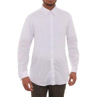 Versace Long Sleeve Collared Button Down Men Regular Dress Button