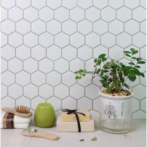 "WS Tiles 2"" Porcelain Hexagon Mosaic Wall & Floor Tile (18 sq. ft.)"