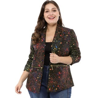 Link to Unique Bargains  Women's Notched Lapel Plus size Similar Items in Women's Outerwear