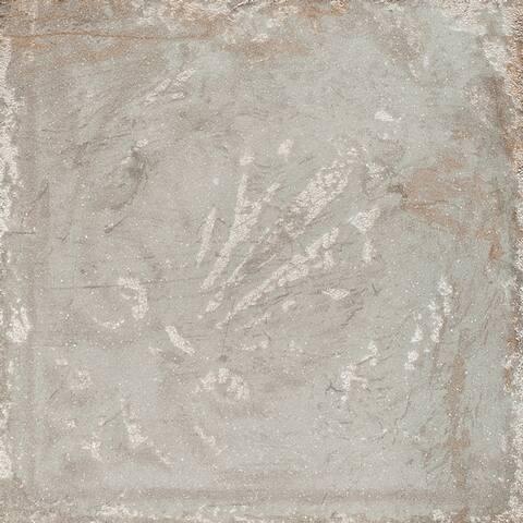 Sassuolo Ceramic Italian Tile in Grey Relief (12 x 12, 12 Sq. Ft.)