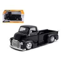 1952 Chevrolet COE Pickup Truck Black with Chrome Wheels 1/24 Diecast Model by Jada