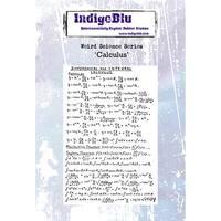 "IndigoBlu Cling Mounted Stamp 5""X4""-Calculus"