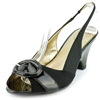 Circa Joan & David Neera Open-Toe Canvas Slingback Heel
