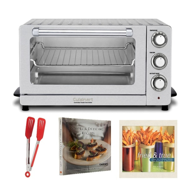 Cuisinart TOB-60N Toaster Oven Broiler with Convection (Silver) and Accessory Bundle (Refurbished)
