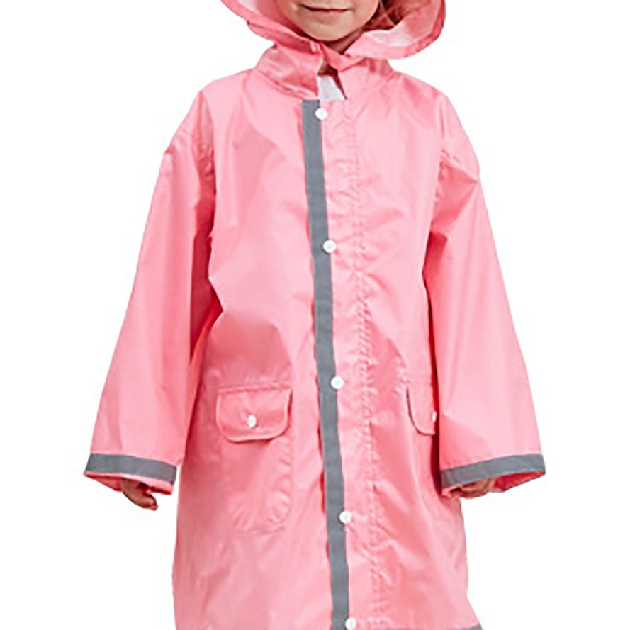 half off pretty cheap top style QZUnique Kids' Lightweight Hooded Raincoat Rainwear Reflective Poncho