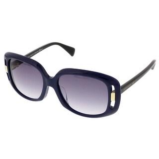 Alexander McQueen AMQ 4237/S UYN Dark Navy Rectangular Sunglasses