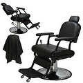 LCL Beauty Extra Large Classic Style Reclining Hydraulic Salon Chair - Thumbnail 0