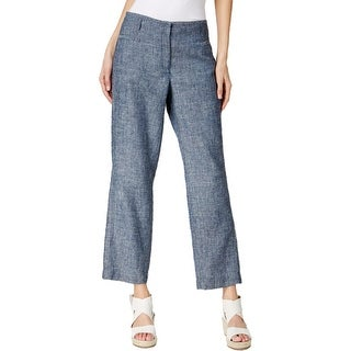Eileen Fisher Womens Ankle Pants Chambray Wide Ankle - L