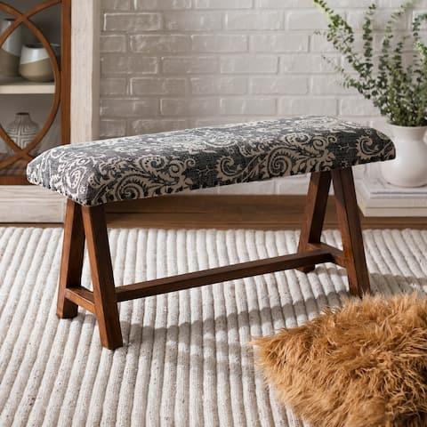 Yijun Black Boho Cotton Bench
