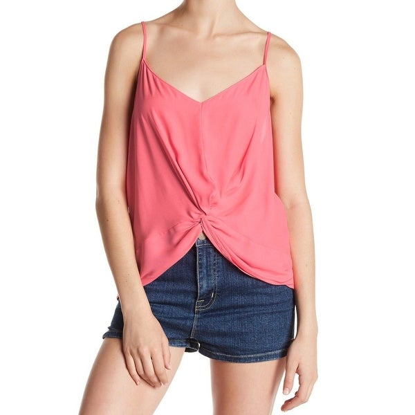 cccbb6f8b6310d Shop Lush NEW Pink Womens Size Medium M V-Neck Solid Knot-Detail Tank Top -  Free Shipping On Orders Over  45 - Overstock.com - 20755870