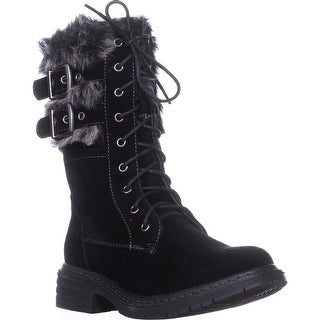 Wanted Pilsner Lace-Up Booties, Black