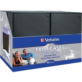 """Verbatim 95094 Verbatim CD/DVD Black Video Trimcases - 50pk - 7.5"" x 5.3"" x 0.3"""""""
