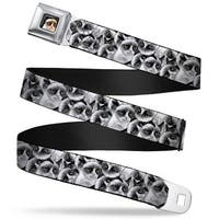 Grumpy Cat Face Full Color Black Grumpy Face Stacked Webbing Seatbelt Belt Seatbelt Belt