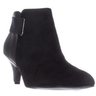 A35 Vandela Elastic Strap Ankle Boots - Black
