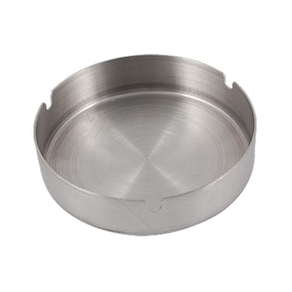 Unique Bargains Silver Tone Round Cigarette Stainless Steel Ash Tray Holder
