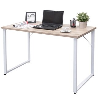 Costway Wood Computer Desk PC Laptop Table Large Writing Study Workstation Home Office