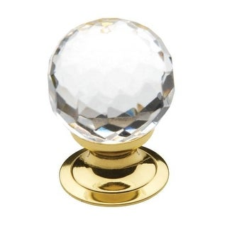 Baldwin 4318 Crystal 1-3/16 Inch Diameter Round Cabinet Knob from the Estate Collection