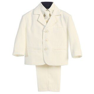 Little Boys Ivory Special Occasion Wedding Easter 5pc Suit Set 12M-14