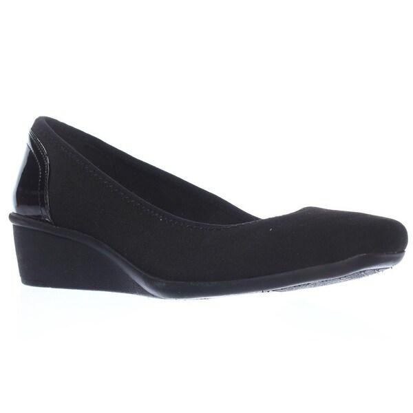 Anne Klein Wisher Wedge Pump Heels, Black