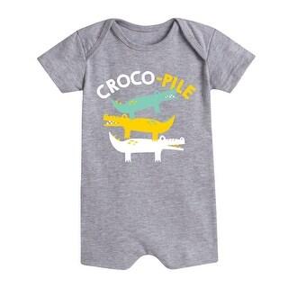 Croco Pile - Infant Romper