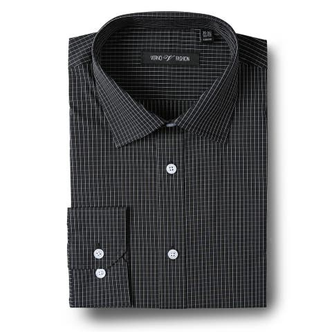 Men's Slim-Fit Performance Stretch Striped Dress Shirt