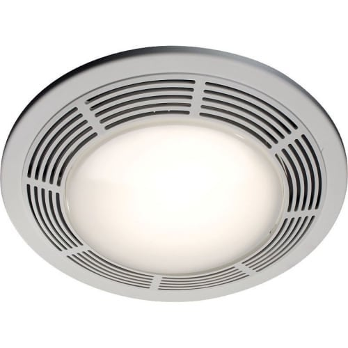 NuTone 8663RP 100 CFM 3.5 Sone Ceiling Mounted HVI Certified Bath Fan with Light and Night Light