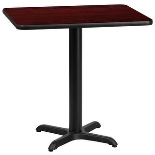 "Dyersburg 24"" x 30'' Rectangular Mahogany Laminate Table Top w/30"" High X-Base"