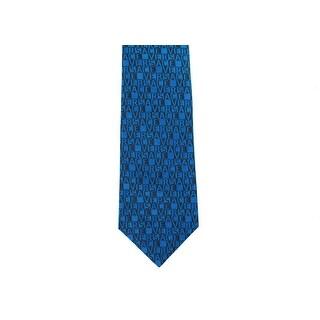 Gianni Versace Mens Geometric Pattern Silk Medusa Ties - One size