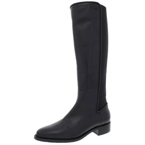 Aquatalia Womens Nastia Riding Boots Leather Weatherproof