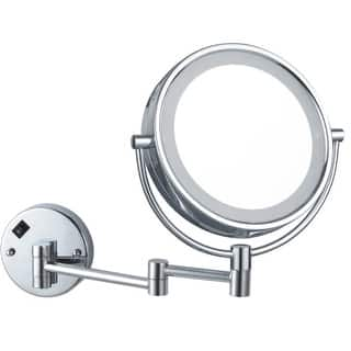 """Nameeks AR7705-5X Glimmer 8""""W x 8""""H Lighted Magnifying Mirror