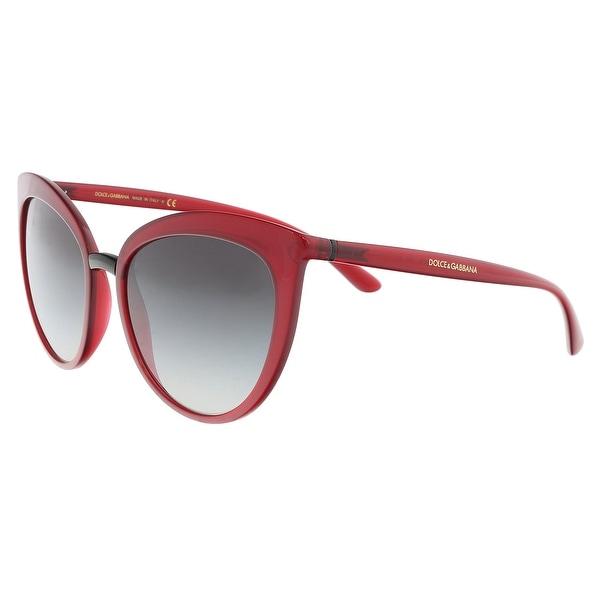 19316d9265c75 Dolce  amp  Gabbana DG6113 30918G Transparent Bordeaux Cat Eye Sunglasses -  55-18-