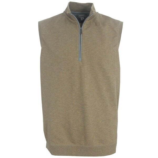 Ashworth Golf Men's Slub French Terry Half-Zip Vest, Brand New
