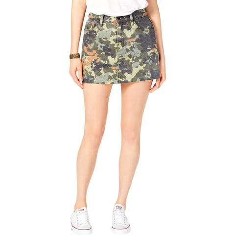 Hudson Womens Mini Skirt Denim Camouflage