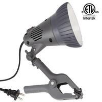 ETL-listed 7W LED Clamp Work Lamp, 4000K Cool White