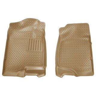Husky Classic 2007-2014 Cadillac Escalade/ESV 2nd Row Bench/Bucket Tan Front Floor Mats/Liners