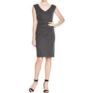 Diane Von Furstenberg Womens Bevin Wear to Work Dress Striped Sleeveless