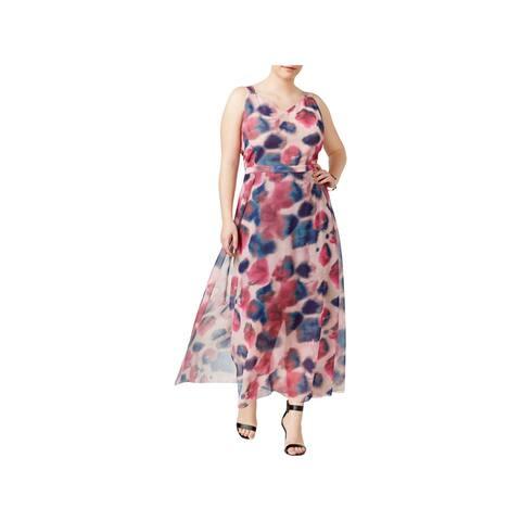 Rachel Rachel Roy Womens Plus Maxi Dress Faux Wrap Maxi