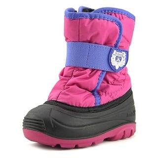Kamik Snowbug 3 Round Toe Canvas Winter Boot|https://ak1.ostkcdn.com/images/products/is/images/direct/482d97bfa7ef5a42c23e8223ca62b14f696666fa/Kamik-Snowbug-3-Toddler-Round-Toe-Canvas-Pink-Winter-Boot.jpg?impolicy=medium