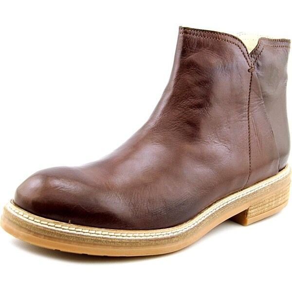Firenze.Studio Bess Men Round Toe Leather Brown Boot