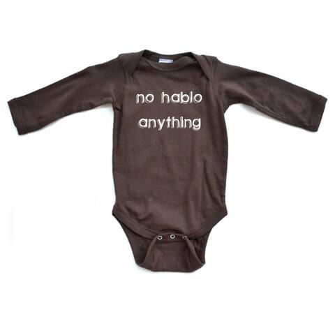 Hilarious No Hablo Anything I DonT Speak Infant Baby Cute Soft Long Sleeve Bodysuit