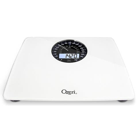 Ozeri Rev Digital Bathroom Scale With Electromechanical Weight Dial