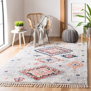 Link to Safavieh Morocco Bohemian & Eclectic Tribal Cream/Multi Polyester Rug Similar Items in Shag Rugs
