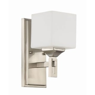 "Craftmade 43961 Urbane Single Light 10-1/4"" High Wall Sconce with White Opal Glass Shade"