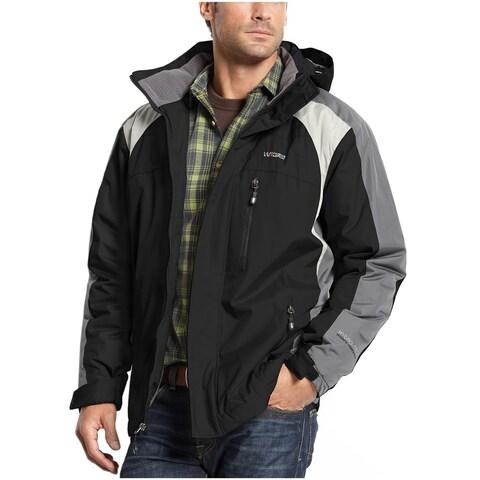 Weatherproof 32 Degrees Heat Mens Hydro-Tech Coat Small S Black and Gray