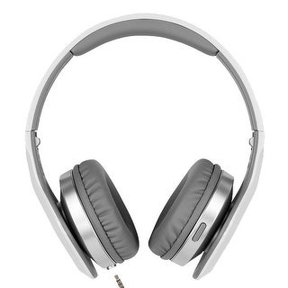 JVC XX Elation Headset with Integrated Remote and Mic, Silver - 7.5 x 3.5 x 9.2