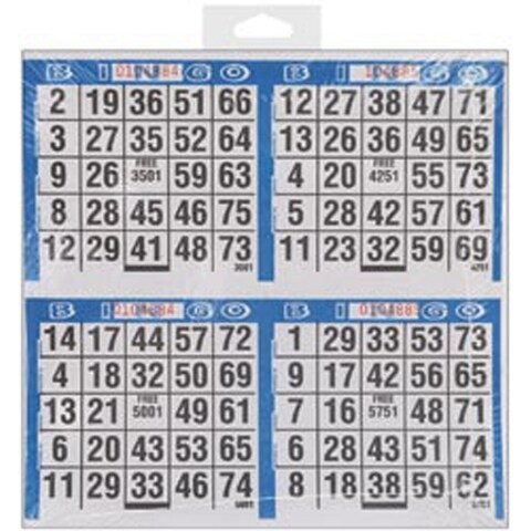 "500 Games - Bingo Game Sheets 8""X8"" 125/Pkg"