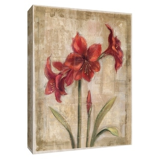 """PTM Images 9-154224  PTM Canvas Collection 10"""" x 8"""" - """"Scarlet Blossom II"""" Giclee Flowers Art Print on Canvas"""