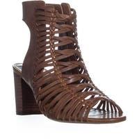 Lauren by Ralph Lauren Hali-SN-CS Zip Up Sandals, Deep Saddle Tan - 7 us / 38 eu